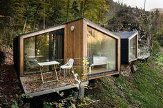Best Ideas For Modern House Design & Architecture : – Picture : – Description ekokoncept mini Prefab Cabins, Prefabricated Houses, Prefab Homes, Cabin Homes, Cabins In The Woods, House In The Woods, Casas Containers, Cabin Design, Wooden House Design