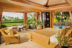 Hawaiian Home Designs Exotic Bedroom Werner Design Associates Kona Hawaii