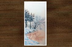 original watercolor painting by JP Wisniewski, snow painting, hand made painting, snow landscape, SOLD Painting Snow, Watercolor Paintings, How To Make Paint, Photos, Tapestry, Landscape, The Originals, Water Colors, Lens Flare