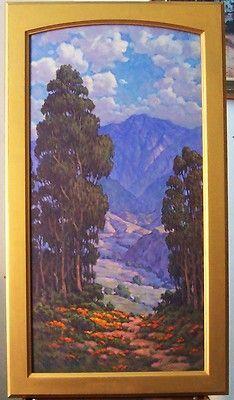 California Eucalyptus  Poppies by Jim Garlock, Plein Air Style