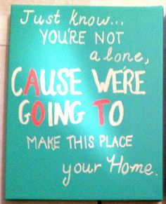 """just know you're not alone, cAuse we're gOing To make this place your home""  AOT craft for Kappa Delta"