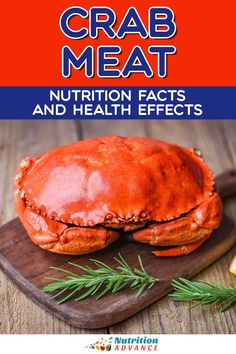 A guide to crab meat and its nutrition facts and potential health benefits. What vitamins and minerals does crab offer? And does it have any downsides? #crab #shellfish #seafood #nutrition Nutrition Articles, Crab Meat, Different Recipes, Salmon Burgers, Health Benefits, Minerals, Seafood, Vitamins, Mineral