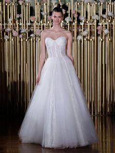 Strapless Tulle Ball Gown Wedding Dress   Francesca Miranda Spring 2018