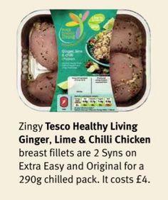 Tesco Healthy Living Ginger, Lime & Chilli Chicken