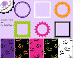 FREE Halloween paper and frames!!