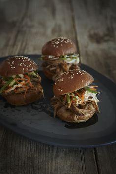 Vietnamese pulled pork sliders with Asian slaw  thefooddept.blogspot.com.au