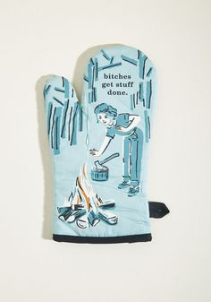 It's the Hot That Counts Cotton Oven Mitt