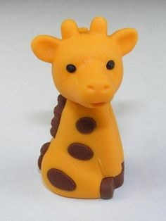 Giraffe Pencil Top Japanese Animal Erasers. 2 Pack. Orange by PencilThings. $2.00. Non Toxic. IWAKO erasers.. Take-apart erasers and put them back together again and again!. Mix and match colors to create your own unique colors.. Available in a variety of colors.. Take-apart erasers and put them back together again and again!  Mix and match colors to create your own unique colors.  The take-apart function only works with erasers with more than one color.  Non-Toxic...