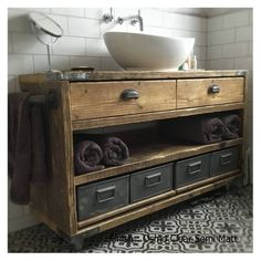 DULWICH-Industrial Bathroom Wash Stand,Wooden Bathroom Vanity Industrial, Bathroom Vanity Reclaimed Wood - All For Decoration Timber Bathroom Vanities, Reclaimed Wood Bathroom Vanity, Industrial Bathroom Vanity, Bathroom Vanity Units, Bathroom Furniture, Small Bathroom, Rustic Vanity, Master Bathroom, Etsy Furniture