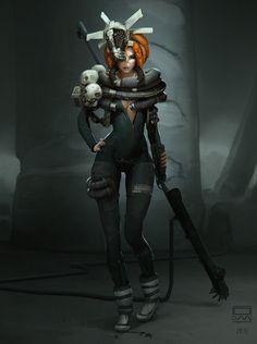 ArtStation - Cyber shaman, Mikhail Rakhmatullin