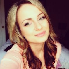 Blonde and brown hair color, beautiful soft make up, pink.
