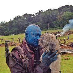 Yondu has a soft side for puppies!
