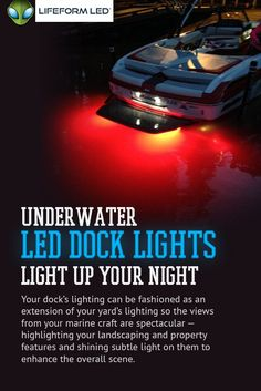 Lifeform LED offers a complete range of extremely bright underwater LED boat lighting products and easy to install LED dock light kits. Our underwater lights are durable, bright, and very efficient! Dock Lights, Led Boat Lights, Underwater Boat Lights, Boat Stuff, Water Crafts, Boating, Light Colors, Light Up, Cool Pictures