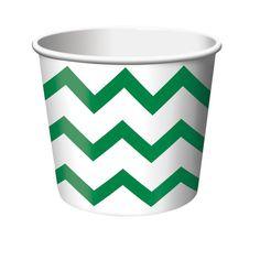 Chevron Stripe Green Treat Cups/Case of 72