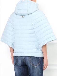 Стеганая куртка-летучая мышь на молнии - Модель Верх-Низ1
