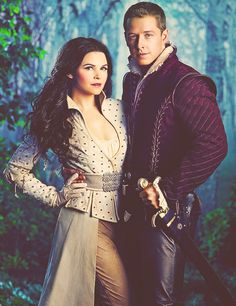 Snow White and Prince Charming...love Snow's outfit
