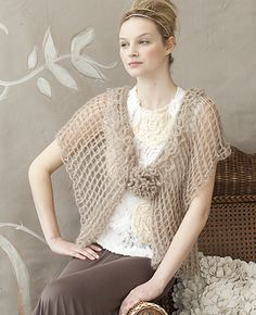 Ravelry: #04 Double Wrap pattern by Nicky Epstein.  Capes are hard to pull off, but I love the ethereal quality of this one.