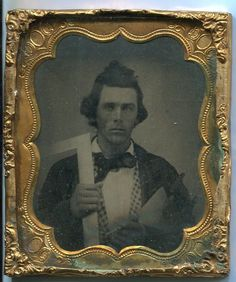 Carpenter Architect Occupational Tintype Civil War Era RARE