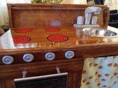 Wooden kids Kitchen by morganodwyer on Etsy, $300.00
