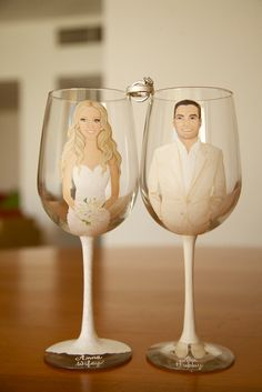 His and Hers Custom Toasting Glasses Wedding Notes, Wedding Set Up, Perfect Wedding, Dream Wedding, Wedding Gifts For Friends, Gifts For Wedding Party, Bridal Gifts, Best Bridesmaid Gifts, Wedding Wine Glasses
