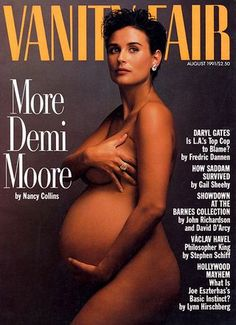 Flashback: Demi Moore Esquire legend George Lois recalls Annie Leibovitz's culture-jolting 1991 V. cover of a pregnant Demi Moore. Demi Moore, Claudia Schiffer, Britney Spears, Robert Mapplethorpe, Steve Mccurry, Annie Leibovitz Photography, Vanity Fair Magazine, Celebrity Magazines, Family Photos