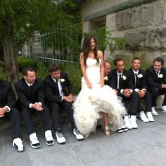 All about the wedding shoes--Jimmy Choo's and retro Jordan's  signatureeventsbybarbie.com
