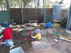 I can imagine hiding stuff in the ground and letting my kid excavate and find treasures.