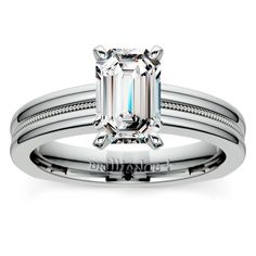 Ready to give her the ultimate gift? Show her that it's Forever with the elegant Rocker Milgrain Diamond Solitaire in White Gold!   http://www.brilliance.com/engagement-rings/rocker-milgrain-solitaire-ring-white-gold