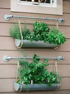 If you're working with a small backyard or patio, use a vertical garden to grow your vegetables, herbs, and other plants. These DIY vertical gardens will help you grow the best herbs you've ever tried. Check out these unique planters using a shoe rack, paint cans, gutters and more unique everyday items! #verticalvegetablegardenspatio #verticalherbgardens