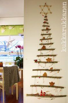 Christmas tree from twigs - extraordinary Christmas Home, Henna, Advent Calendar, Holiday Decor, Home Decor, Ideas, Decoration Home, Room Decor, Advent Calenders