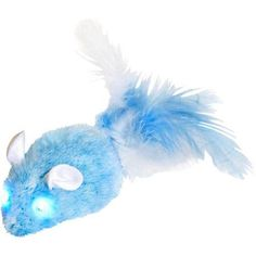 OurPets 1550012999 Blue Squeaking Twinkle Mouse