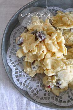 seidenfeins Dekoblog: 22 ✰ Stollengebäck & Cranberry Crisp * german christmas cake - cookies & chocolate cranberries