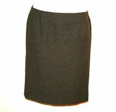 D&G Dolce and Gabbana Brown Tweed Straight Skirt