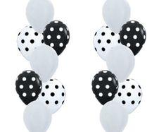 Spotty Dotty Balloon Mix, Black + White Polka Dot Balloons, Monochrome Party, Panda Party, Kids Party, Rockabilly Wedding, Rockabilly Decor by littlepartyeventco. Explore more products on http://littlepartyeventco.etsy.com