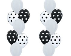 Spotty Dotty Balloon Mix, Black + White Polka Dot Balloons, Monochrome Party, Panda Party, Kids Party, Rockabilly Wedding, Rockabilly Decor by littlepartyeventco. Explore more products on http://littlepartyeventco.etsy.com