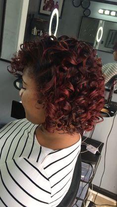 Natural hair press and curly