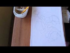 Pintura em tecido Eliane Nascimento: Rosas Lilás (vídeo projeto) - YouTube