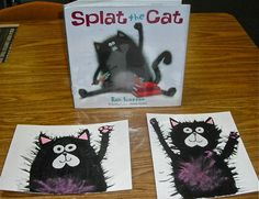 """The book starts out with Splat worrying about his first day of Cat School. We talked about all things kids worry about before starting a new school, or even a new class. The book ends on the morning of Splat's second day of school where he wakes up with a HUGE smile anticipating his new day with excitement. Kids also shared how they identified with those feelings. All in all, a fun discussion to go with their """"Splats""""!! I would definitely do this again."""