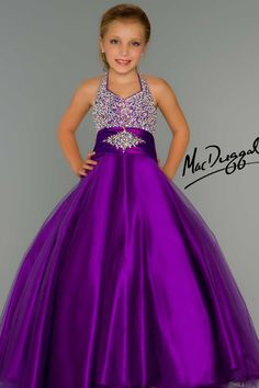 Little Girls Pageant Dress in Purple - Mac Duggal