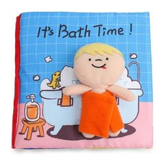 It's Bath Time! Baby Cloth Book