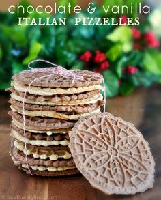 Holiday Recipe | Chocolate & Vanilla Italian Pizzelle Cookies....need to find my pizzelle iron!