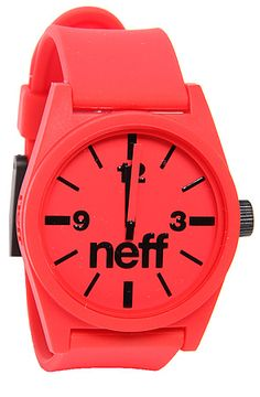 The Daily Watch in Red by NEFF use rep code: OLIVE for 20% off!
