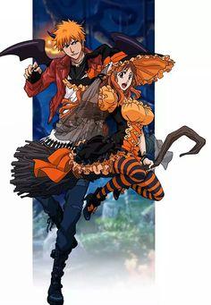 Ichigo x Orihime Ichigo E Orihime, Anime Manga, Anime Art, Dragon Ball, Bleach Couples, Otaku, Anime Halloween, Bleach Characters, Shinigami