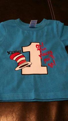 Dr. Suess Birthday Shirt// Dr. Seuss// Dr. Seuss 1st Birthday - pinned by pin4etsy.com