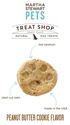 #MarthaStewartPets Treat Shop #AmericanMade natural dog biscuits contain a simple list of natural ingredients - like real peanuts - and they come in crunchy, bite-sized portions that are great for training or as an anytime snack - Sold only @petsmartcorp
