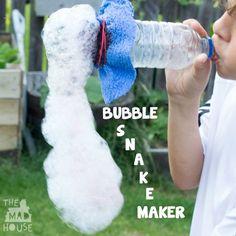 Bubble snake maker squa