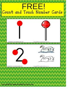 FREE Touch and Count Math Flash Cards {Special Education, Pre-K, Autism} - Autism Educators - TeachersPayTeachers.com
