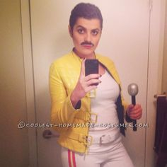 Homemade Freddie Mercury Costume for a Woman... Coolest Halloween Costume Contest