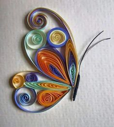 Josie Jenkins Quilling - Crafts All Over Arte Quilling, Quilling Butterfly, Paper Quilling Patterns, Origami And Quilling, Quilling Paper Craft, Paper Butterflies, Paper Crafts, Quiling Paper Art, Quilled Roses