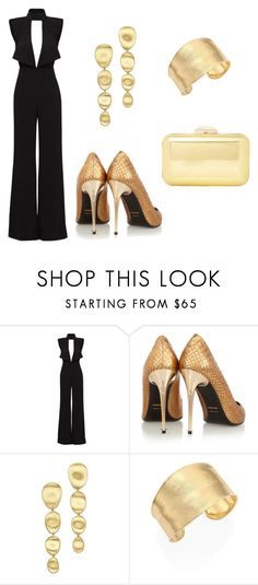 """""""Golden Awards"""" by acaguiar on Polyvore featuring Misha Collection, Tom Ford, Marco Bicego and Dune"""